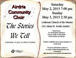 Airdrie Community Choir Concert 2015