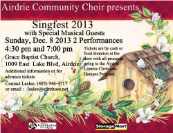 Airdrie Singfest 2013