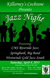 Jazz Night at Killarney's 2015