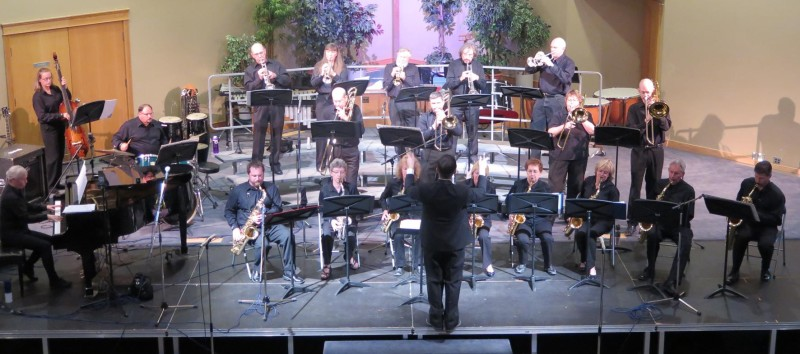 Members of Riverside Jazz playing