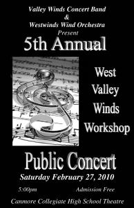West Valley Winds Workshop Concert 2010