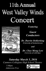 West Valley Winds Concert 2016