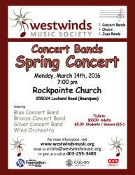 2016 Weswinds Concert Bands Spring Concert