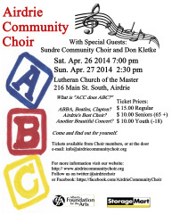 Airdrie Community Choir April Spring Concert