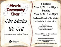 Airdrie Community Choir Concert 2015