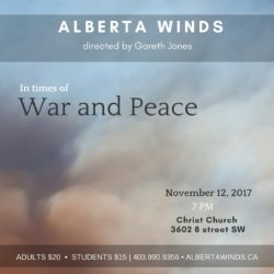 Alberta Winds Nov 11 2017 Concert