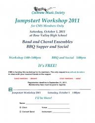 Jumpstart Workshop 2011