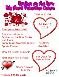Seniors on the Bow Valentine Dance 2013