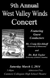 West Valley Winds Concert 2014