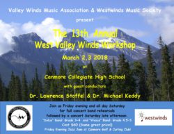 West Valley Winds Concert Band Workshop 2018