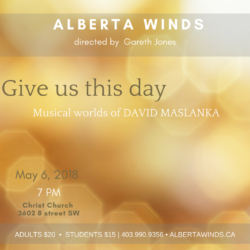 Alberta Winds May Concert