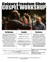 Calgary Freedom Choir Workshop