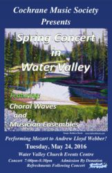 Choral Waves Spring Concert in Water Valley
