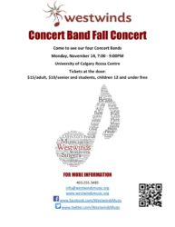 Westwinds 2016 Fall Concert